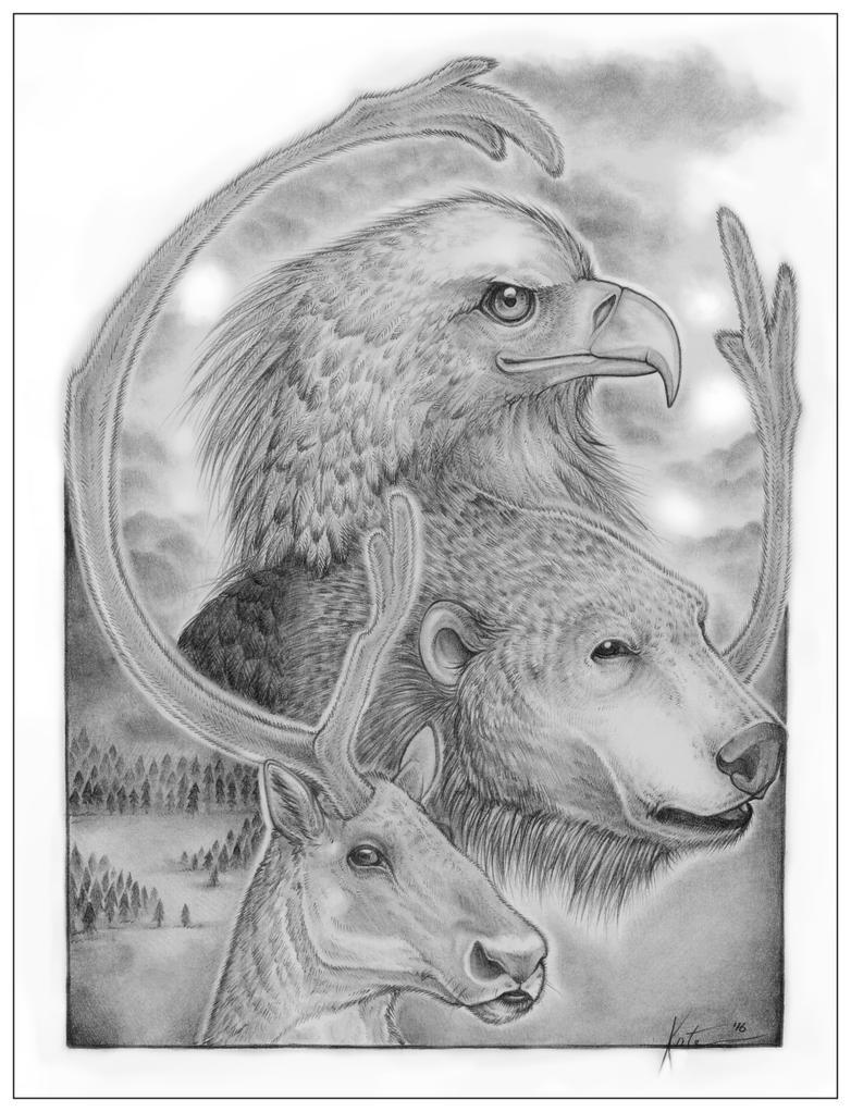 Three Spirits by KateBelangerArts