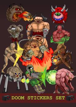 Doom Stickers Set