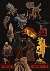 Monolith's Blood stickers set