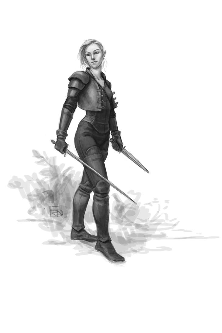 Elven Rogue by Bergholtz