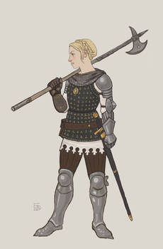 Turid Brigandine without helmet