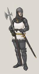 Turid plate armour with helmet.