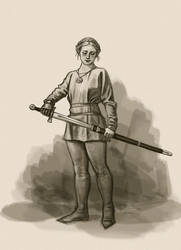 Turid sketch by Bergholtz
