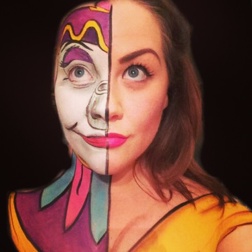 DISNEY MRS POTS BELLE BEAUTY AND THE BEAST MAKEUP By Ljmajor86