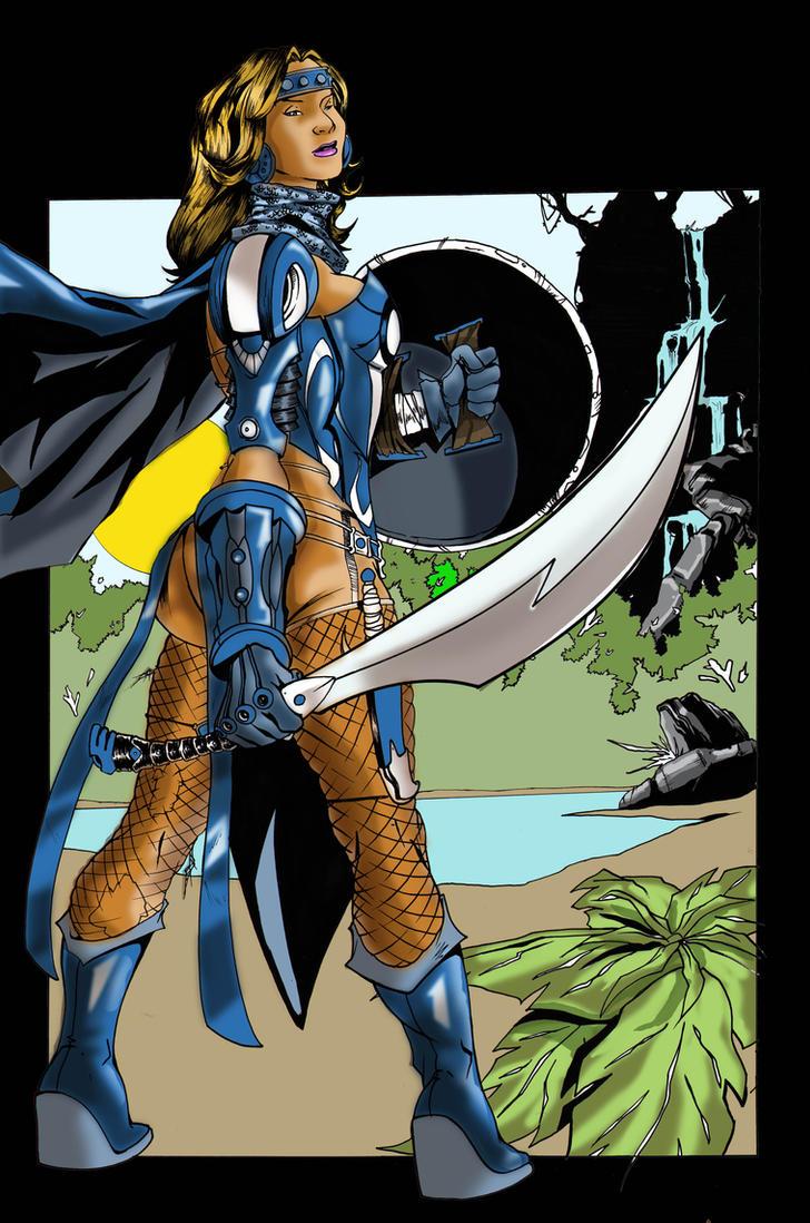 Jayonna the Dragon Huntress C by JayonnaFabro