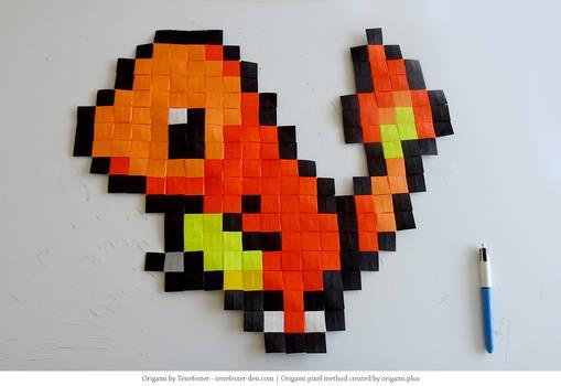Origami Pixel Charmander