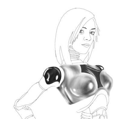 Supergirl Robot (detail) by JXLNumber9