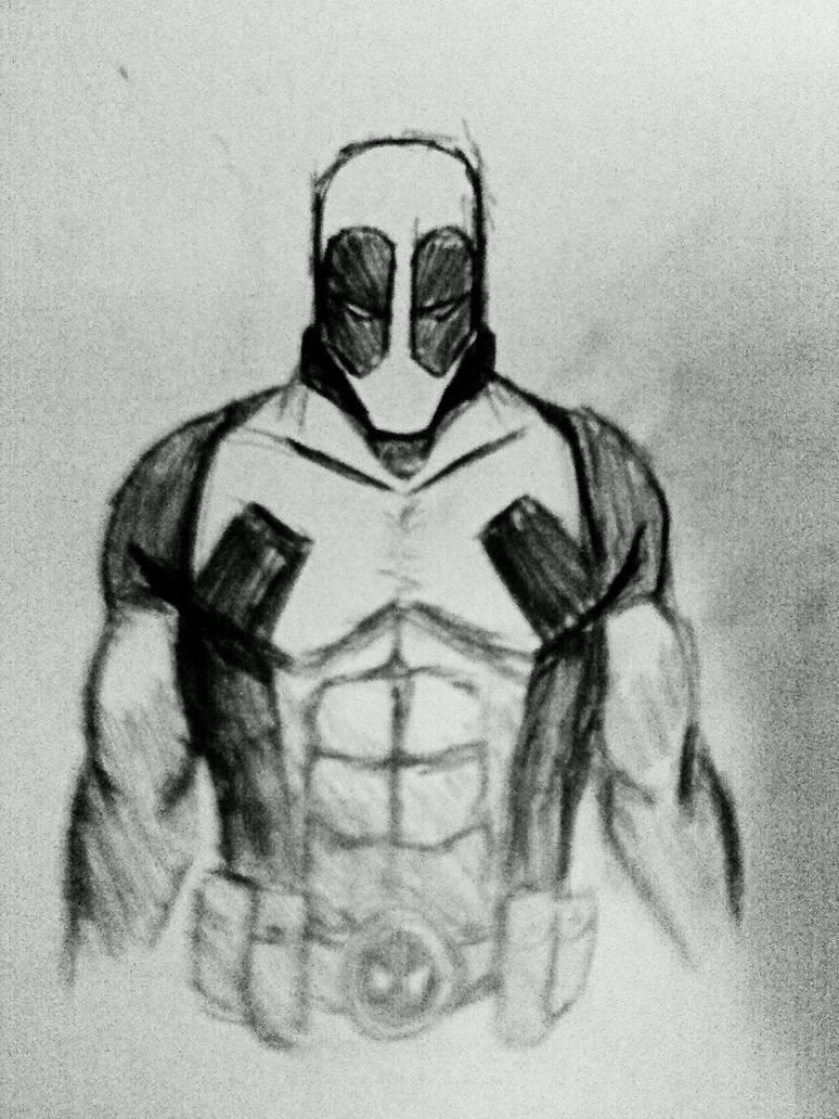 Deadpool pencil sketch by deadfish comics on deviantart