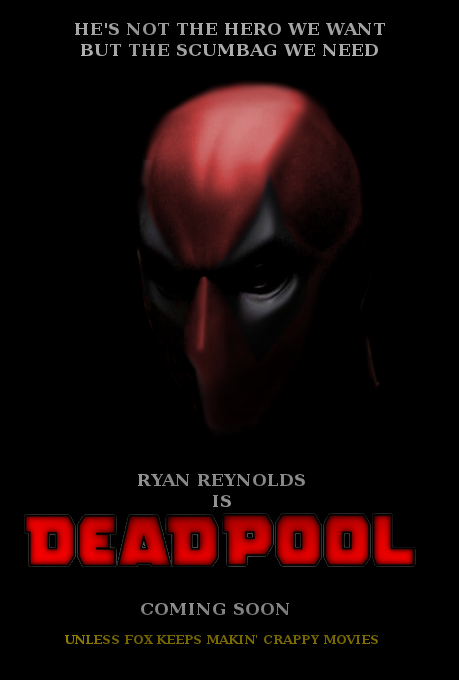 Deadpool Movie Poster 2014 Deadpool movie poster 5 by