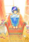 Ryuzaki and kitten - FanArt^^
