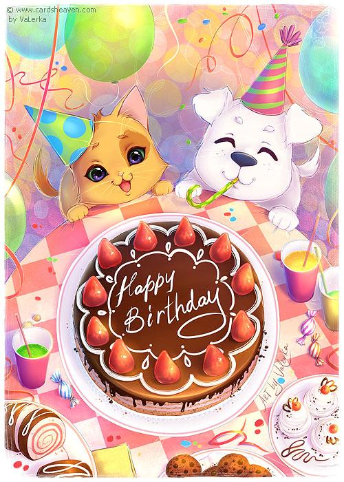 Birthday cake for a friend by VaLerka-Ru