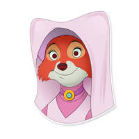 Maid Marian vector sticker by Evgeny-R