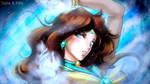 Colored Headshot Commission: Sailor Aquila by kgfantasy