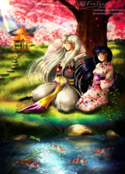 Commission: Under Blooming Sakura