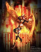 Commission: Firegirl by kgfantasy