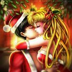 Sailor Santa Love (Mamoru and Usagi)