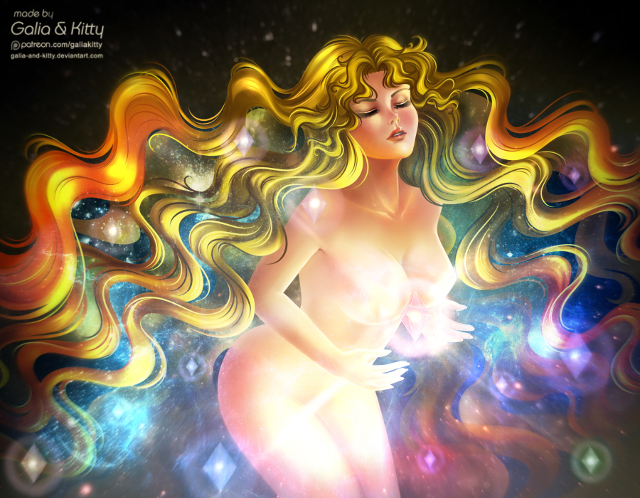 Galaxy Goddess (Sailor Galaxia) NSFW extra by galia-and-kitty