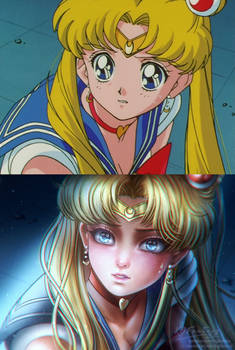 Screenshot Redraw: Anxious Sailor Moon