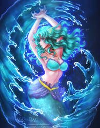Mermaid Sailor Neptune (VIDEO PROCESS)