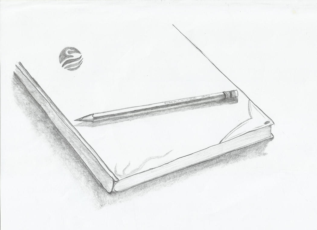 A Shaded Book And Pencil by frankenstein547 on DeviantArt
