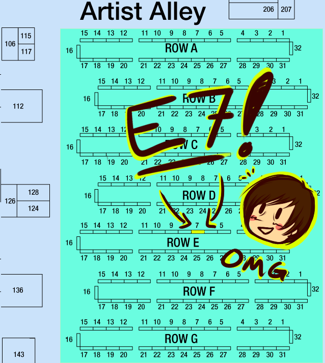 ACen 2014 Artist Alley Location! by ithili3n