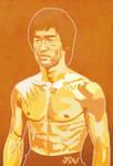 Bruce Lee hard as