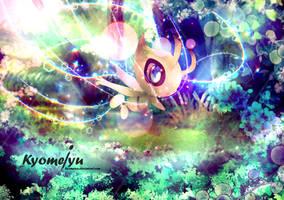 Celebi a Time travel Pokemon by Kyomeiyu