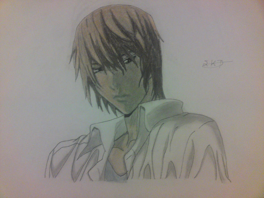 Light Yagami's Colour Drawing by StefanosDTsougranis
