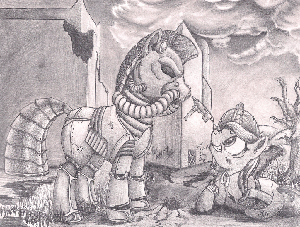 Post-Nuclear Ponies by Graboiidz
