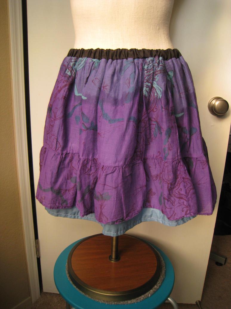 Purple Hippie Skirt by AyameKrislock