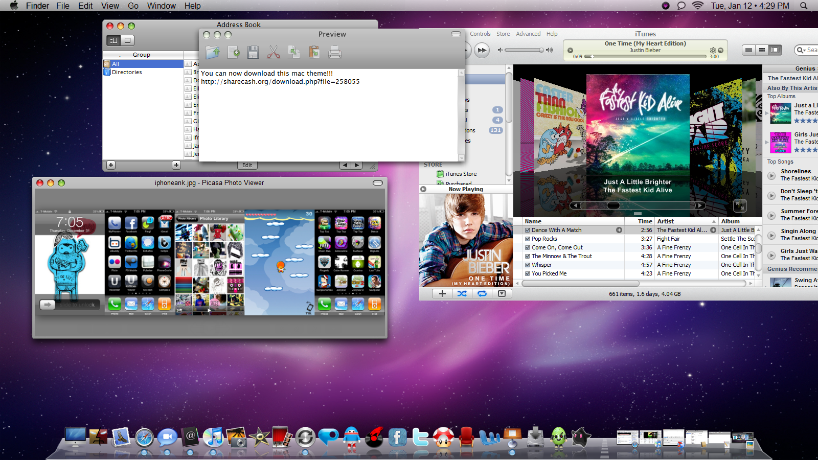 Mac Theme Windows 7 Desktop by ayeesiks
