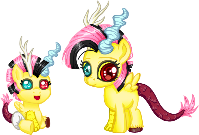 Baby Discord And Fluttershy Fluttershy and Discord...