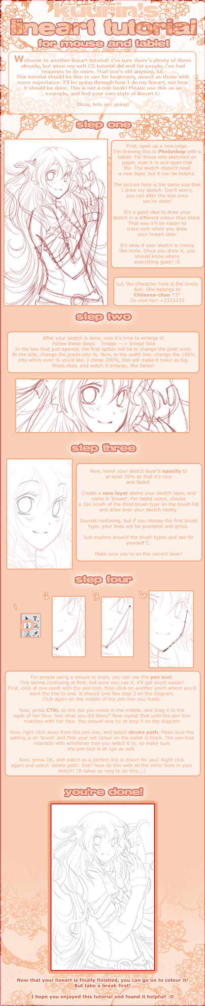 Lineart Tutorial by Kuurin