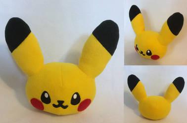 :PKMN: Pikachu Head Plush by MiharutheKunoichi