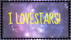 I Love Stars Stamp by Animalshine