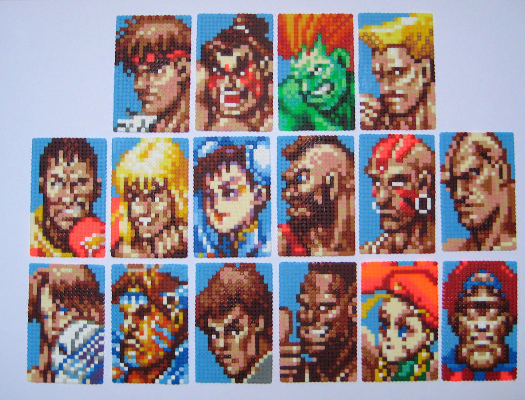 Super Street Fighter 2 Characters Bead Sprite By
