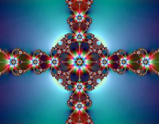 Flower Cross by BaldrickDarling