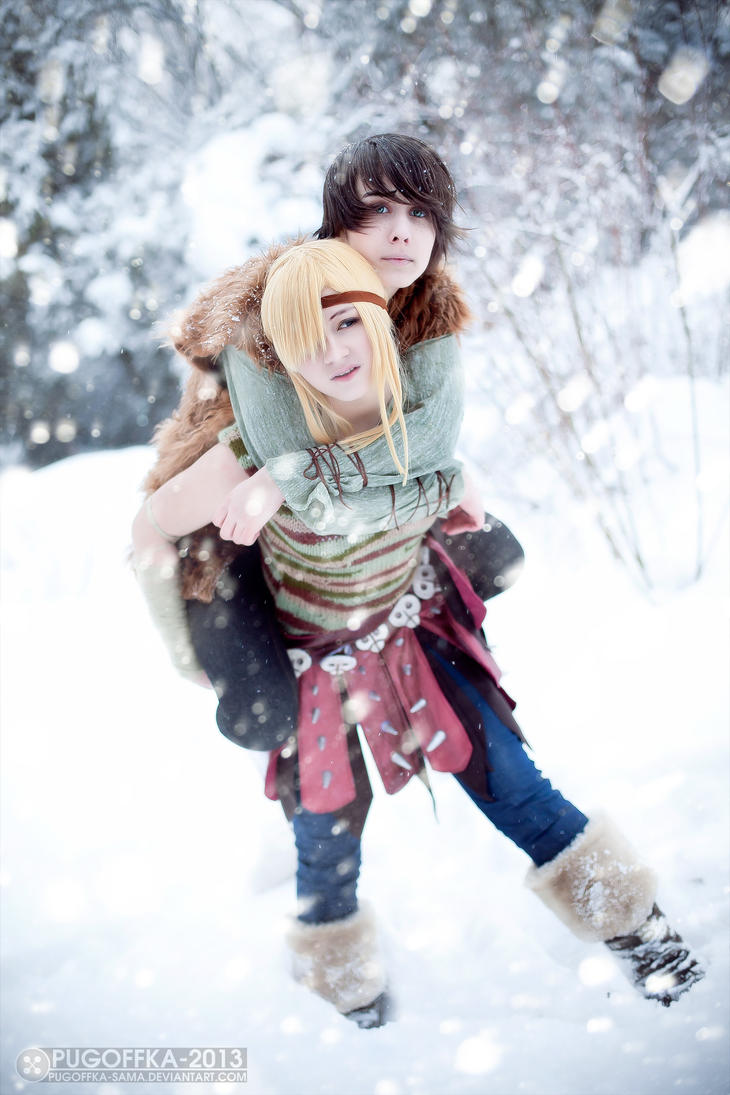 Astrid and Hiccup - How to Train Your Dragon by Pugoffka-sama