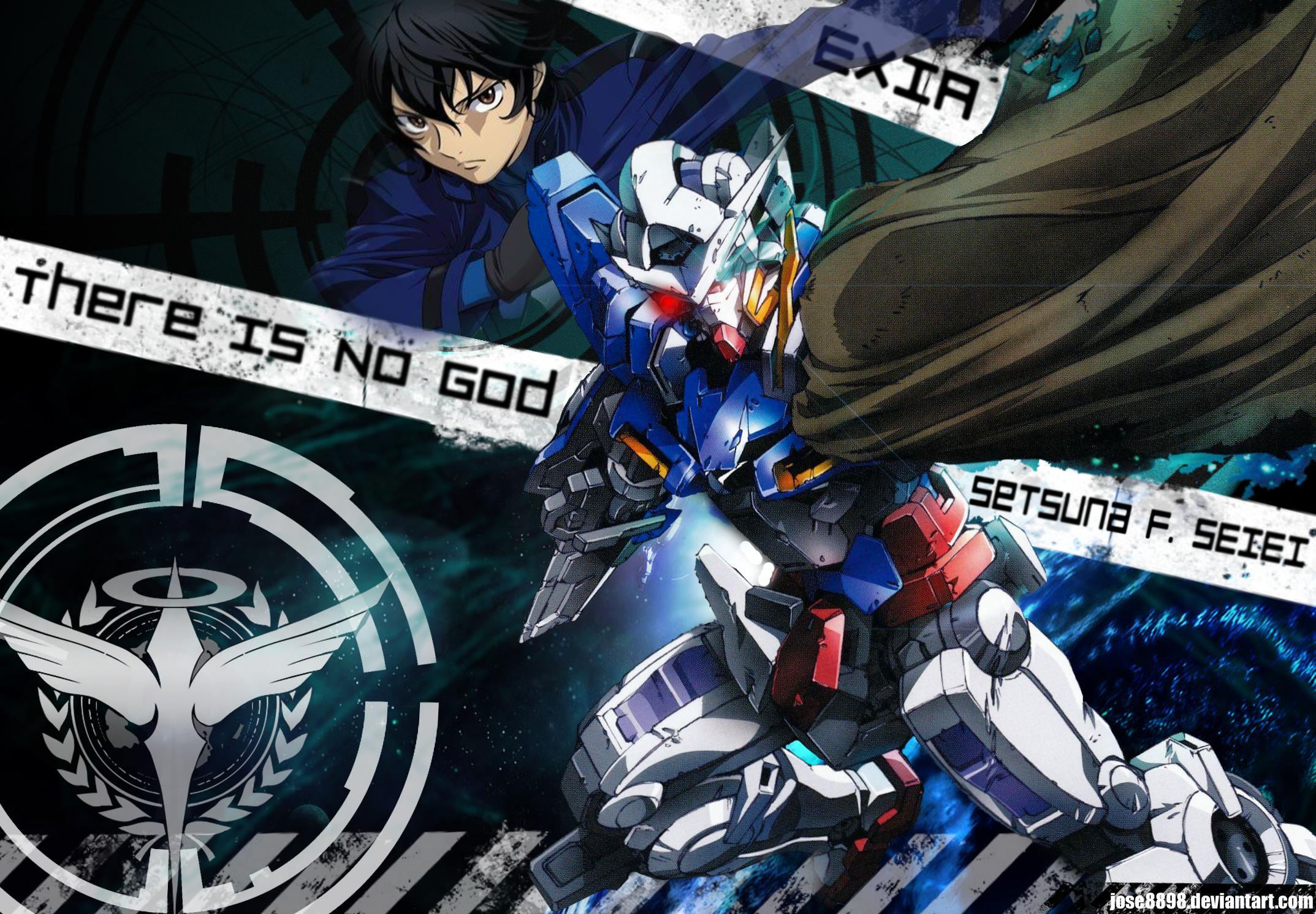 Gundam 00 Setsuna And Exia By Jose8898 On Deviantart