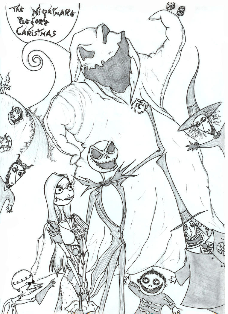 Path coloring page from the nightmare before coloring pages