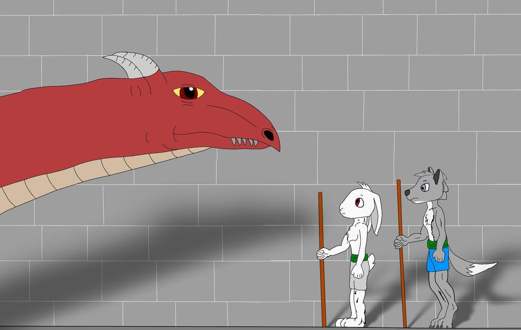 Eidan, Kyo, and a Dragon by Noguy