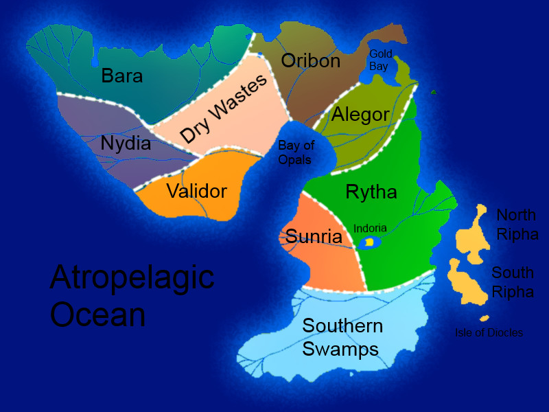 Continent of Pydna Political Map by Noguy