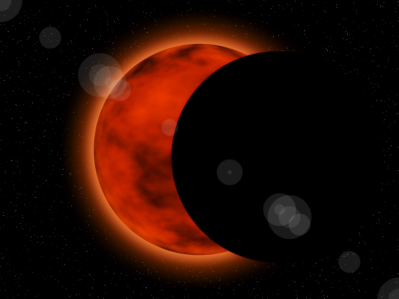 Solar Eclipse In Space by Noguy