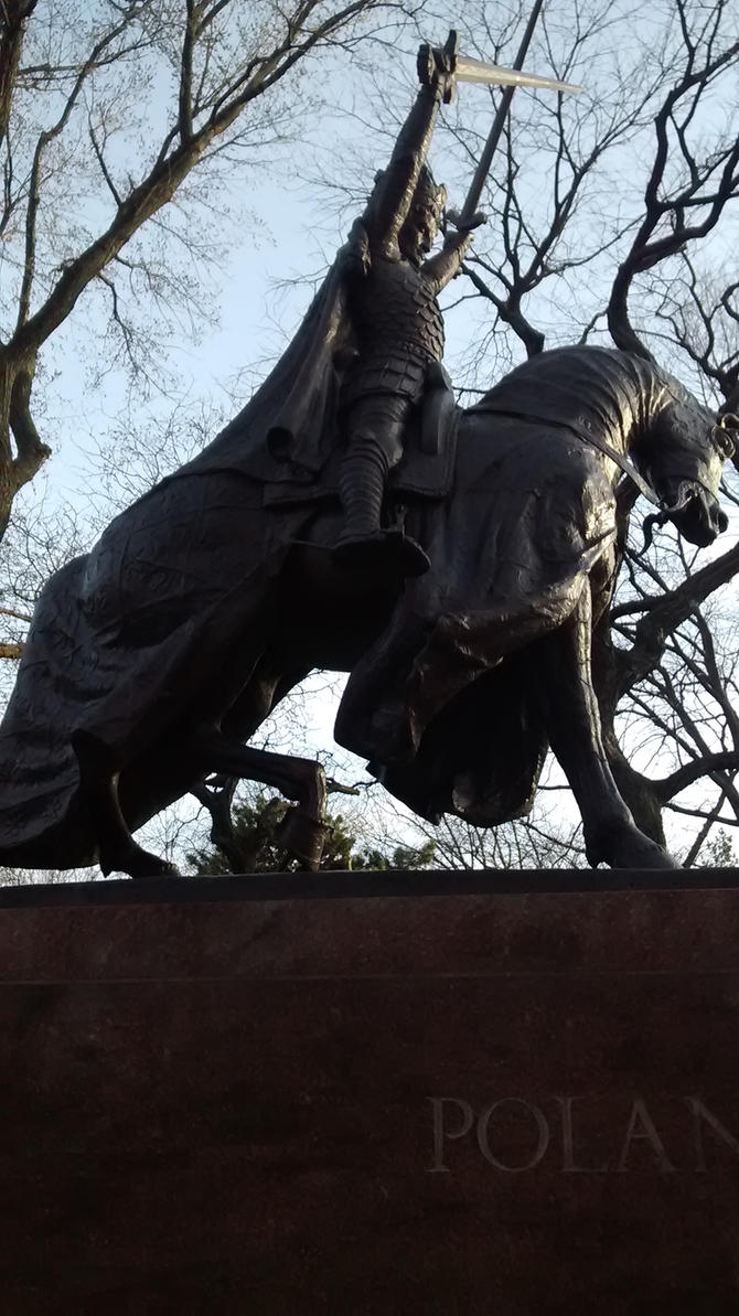 King Jagiello Statue 2 by Aristodes