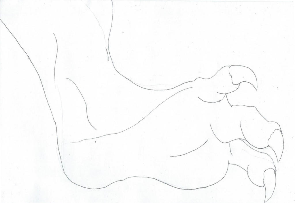 Clawed Foot Sketch by Aristodes