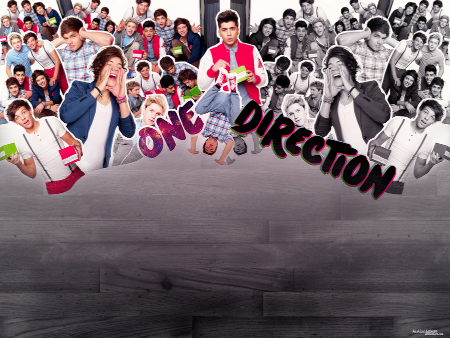 one direction wallpaper with signature Photo