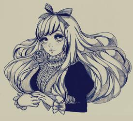 Commission-Girl illustrator Originals