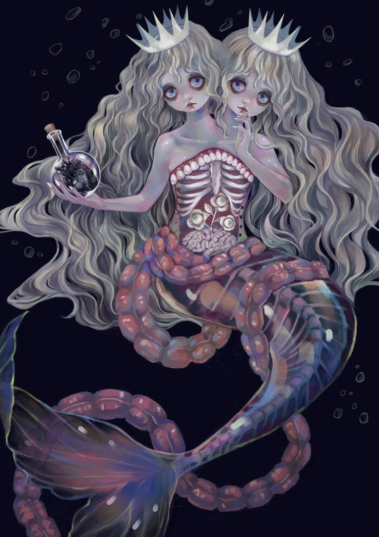 Conjoined  Mermaid Witch by Rin54321