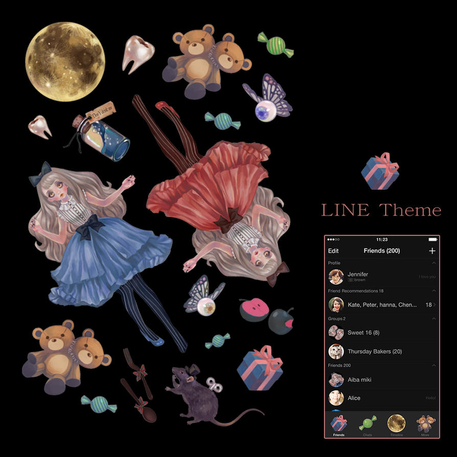 Girl's Daydream line theme by Rin54321