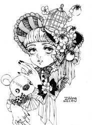 Eyeball flower witch by Rin54321